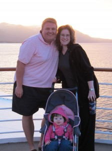 The Fam in the Beagle Channel near Puerto Williams, Chile (February, 2011). Daddy's crazy wearing shorts!
