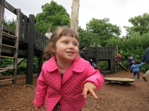 Emerson in action at the Diana, Princess of Wales' Memorial Playground