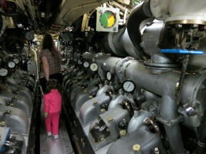 Exploring inside the HMAS Onslow...